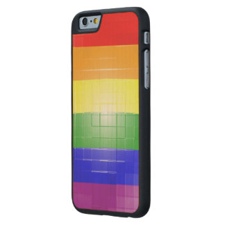 Rainbow Flag Carved® Maple iPhone 6 Case