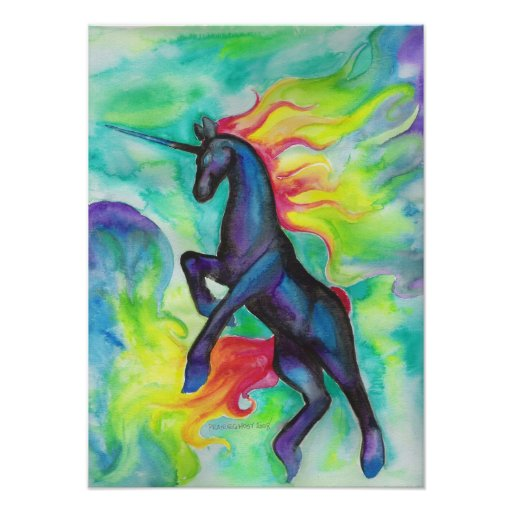 Rainbow Flames Print