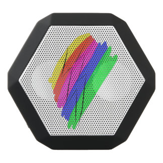 Rainbow flash black bluetooth speaker