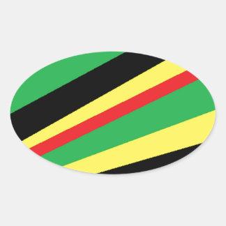 rainbow flash oval sticker