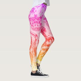 rainbow flash tattoo leggings