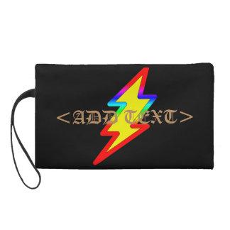 Rainbow Flash Wristlet Purses