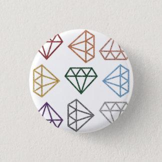 Rainbow flipping diamonds pin