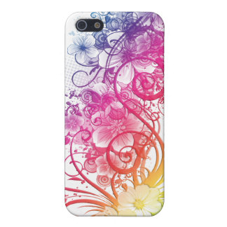 Rainbow Floral Pern ® Fitted™ Hard Shell C iPhone 5 Covers