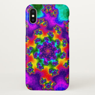 Rainbow Floral Sprinkles Glossy iPhone X Case