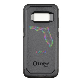 Rainbow Florida map OtterBox Commuter Samsung Galaxy S8 Case