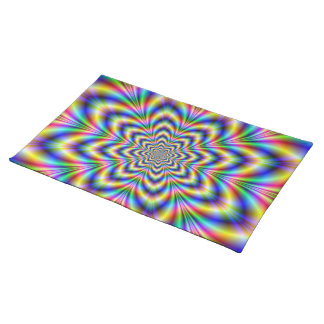 Rainbow Flower American MoJo Placemats
