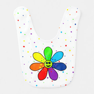 Rainbow Flower Baby Bib