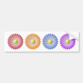 rainbow flower bumper sticker