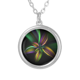 Rainbow Flower Fractal Necklace