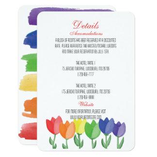 Rainbow FLOWER GAY Lesbian DETAILS WEDDING Card