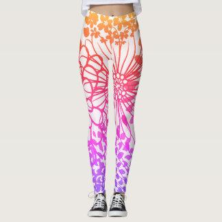 Rainbow Flower Leggings