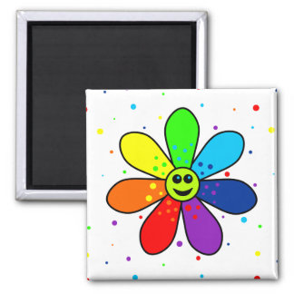 Rainbow Flower Magnet