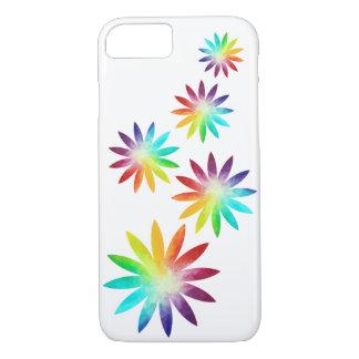Rainbow Flower Phone Case, Rainbow Phone Case