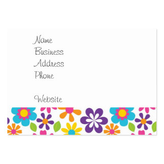 Rainbow Flower Power Hippie Retro Teens Gifts Pack Of Chubby Business Cards