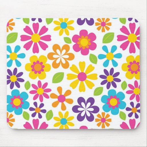 Rainbow Flower Power Hippie Retro Teens Gifts Mouse Pads