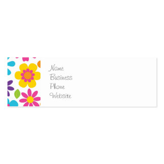 Rainbow Flower Power Hippie Retro Teens Gifts Pack Of Skinny Business Cards