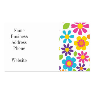 Rainbow Flower Power Hippie Retro Teens Gifts Pack Of Standard Business Cards