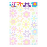 Rainbow Flower Power Hippie Retro Teens Gifts Custom Stationery