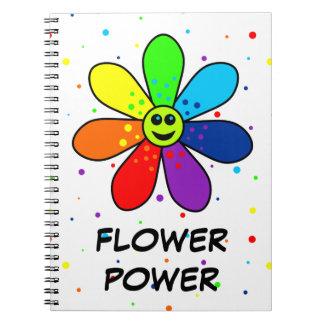 Rainbow Flower Power Notebook