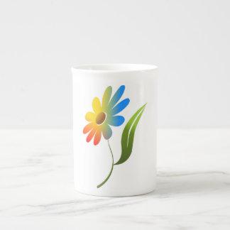 RAINBOW FLOWER TEA CUP