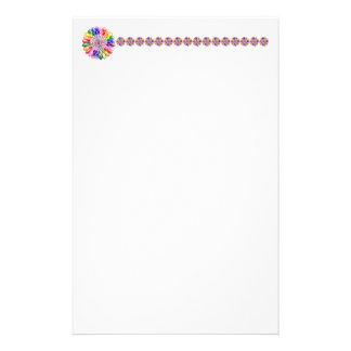 Rainbow Floweret Stationery Paper