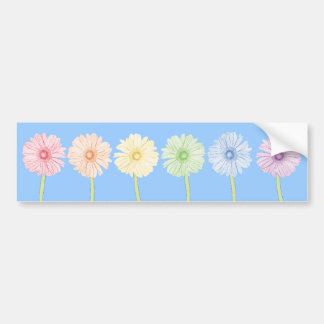 Rainbow Flowers Bumper Sticker