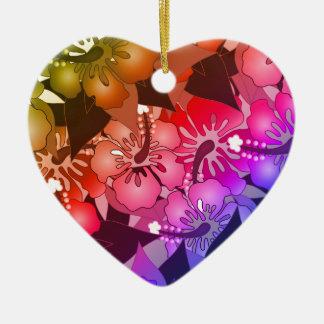 Rainbow Flowers Christmas Ornament