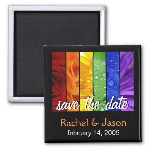 Rainbow Flowers | Save the Date Fridge Magnets