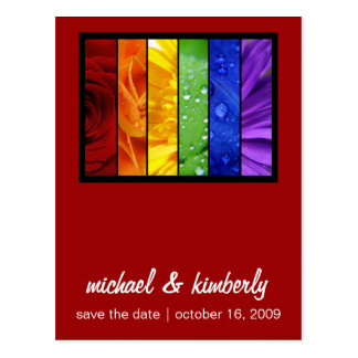Rainbow Flowers | Save the Date Postcard