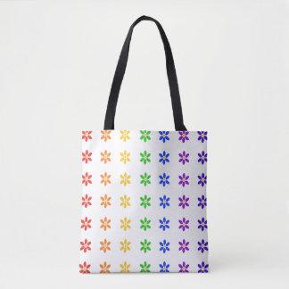 Rainbow Flowers Tote Bag