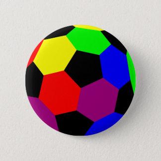 Rainbow Football in Rainbow Nation 6 Cm Round Badge