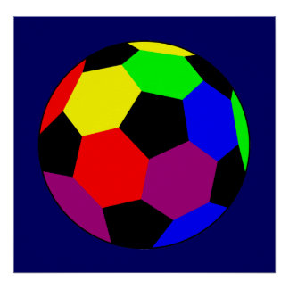 Rainbow Football in Rainbow Nation Poster