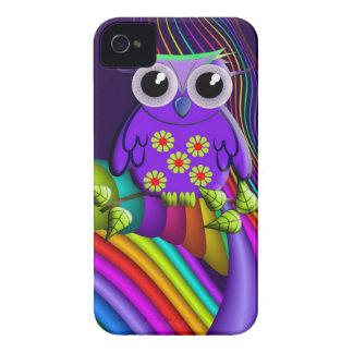Rainbow Forest Owl Blackberry bold case