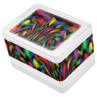 Rainbow Fountain Can Cooler Igloo Cooler