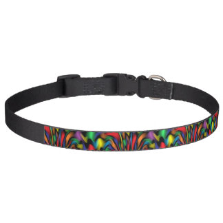 Rainbow Fountain Dog Collar