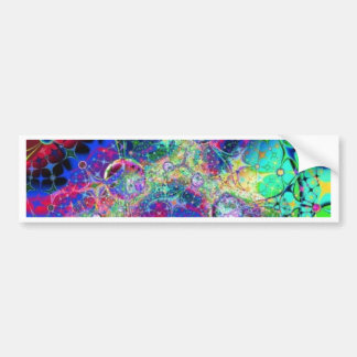 Rainbow Fractal Art Bumper Sticker