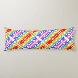 Rainbow Fractal Mosaic Pattern Body Cushion