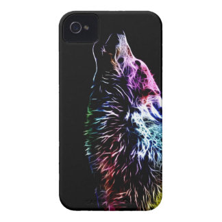 Rainbow Fractal wolf iPhone 4 Covers