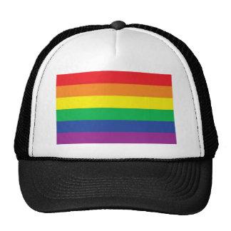 Rainbow  Freedom Gay Pride Flag Symbol Cap
