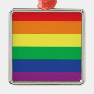Rainbow  Freedom Gay Pride Flag Symbol Christmas Ornament