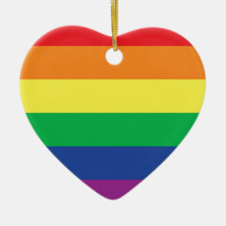 Rainbow  Freedom Gay Pride Flag Symbol Christmas Ornament