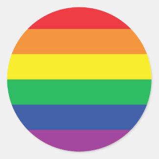 Rainbow  Freedom Gay Pride Flag Symbol Classic Round Sticker