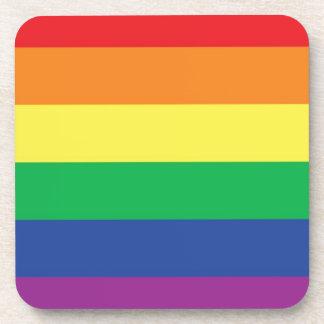 Rainbow  Freedom Gay Pride Flag Symbol Coaster