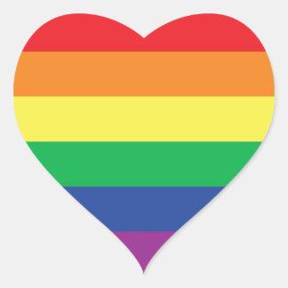 Rainbow  Freedom Gay Pride Flag Symbol Heart Sticker