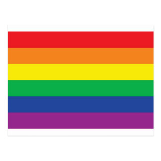 Rainbow  Freedom Gay Pride Flag Symbol Postcard