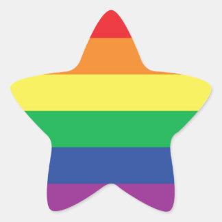 Rainbow  Freedom Gay Pride Flag Symbol Star Sticker