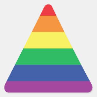 Rainbow  Freedom Gay Pride Flag Symbol Triangle Sticker