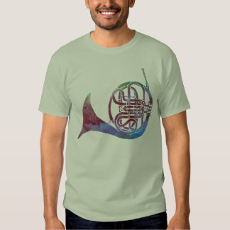 Rainbow French Horn T Shirts
