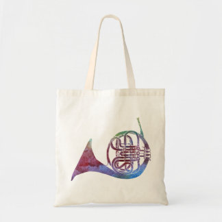 Rainbow French Horn Tote Bag